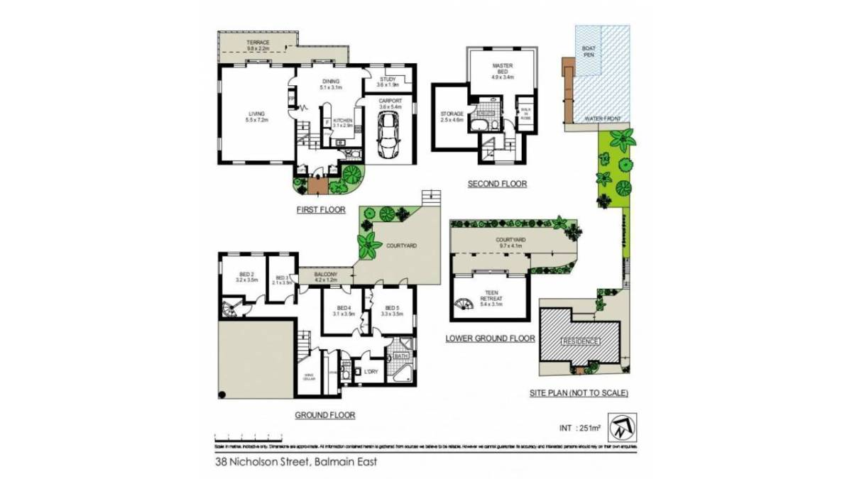 Balmain waterfront holiday house floor plans sydney for Holiday house plans