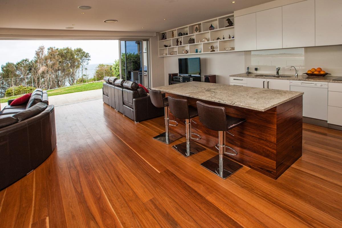 Large kitchen / living area holiday house at beach Sydney Australia