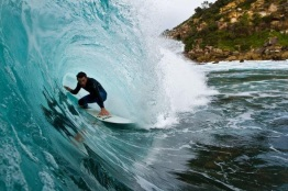 Surfing in Manly