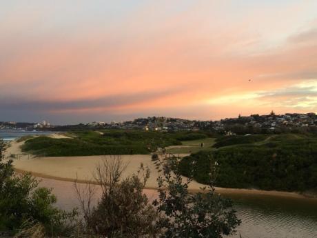 Sunset at Curl curl Beach