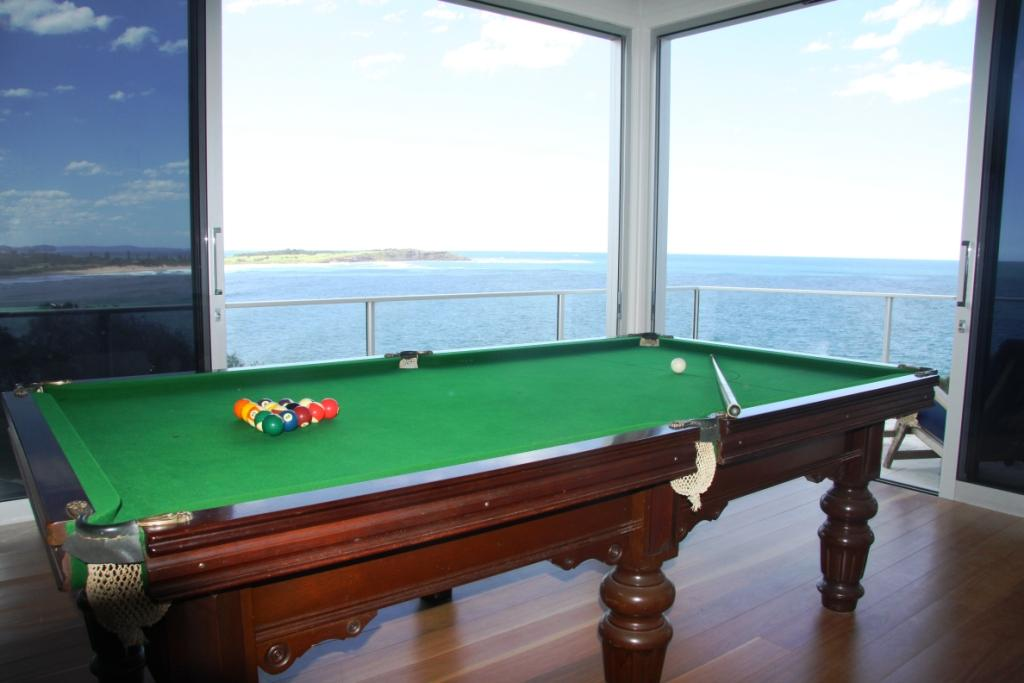 Upstairs water view - rumpus room vacation home northern beaches sydney