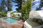 Outdoor pool area at holiday home freshwater beach