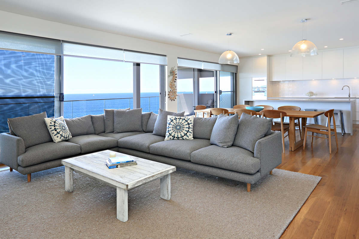 2 spacious living areas Waterfront Elegance Holiday Rental Dee Why Beach Sydney