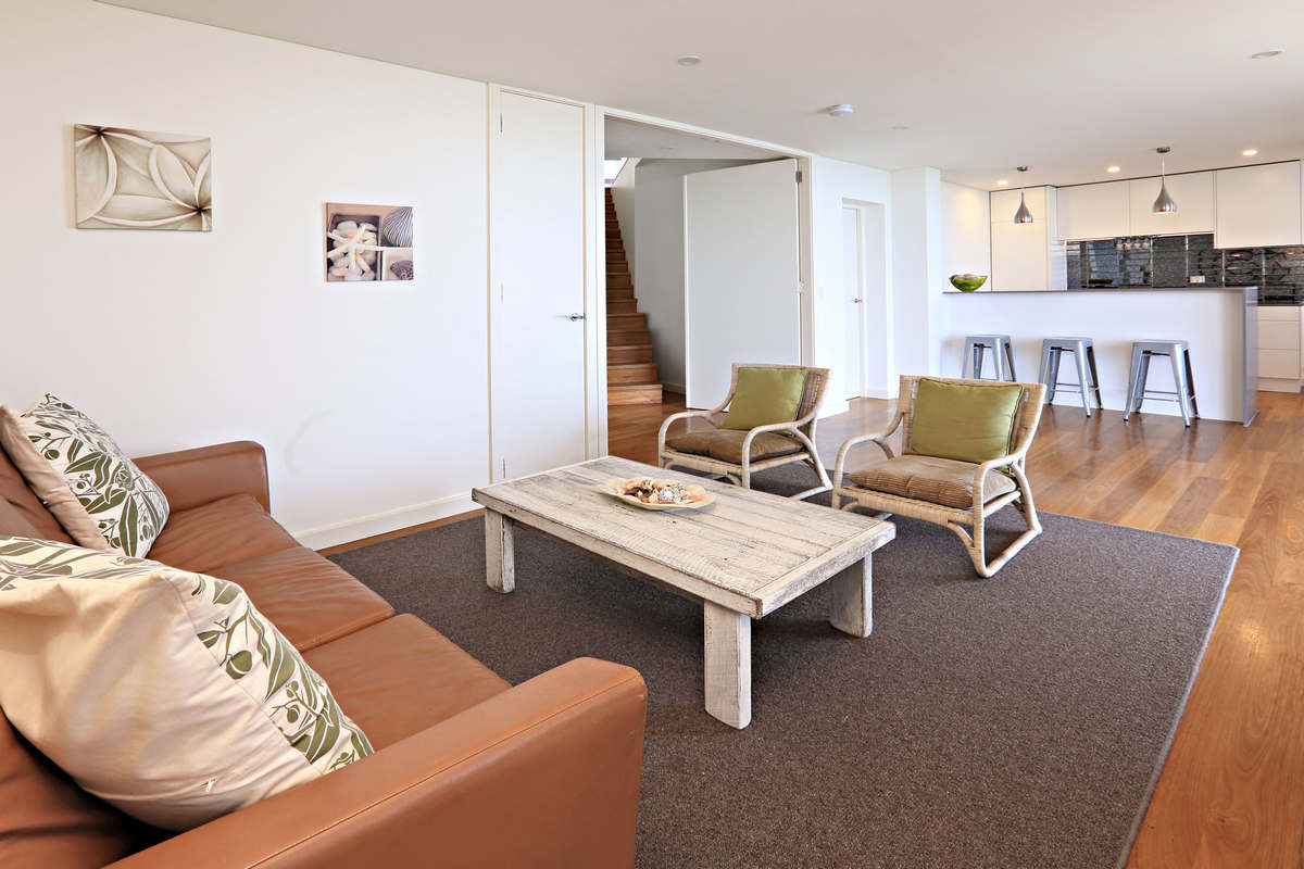 Living Area of separate apartment Waterfront Elegance Holiday Rental Sydney